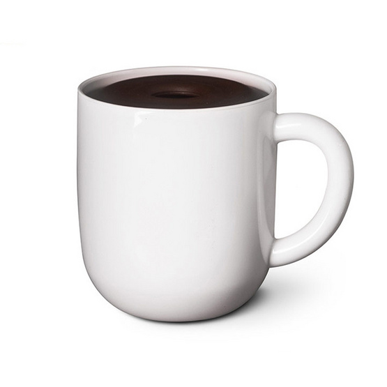 Qualy Maximug (Toilet Paper Holder) ที่ใส่กระดาษทิชชู่ กล่องใส่ทิชชู่รูปทรงถ้วยกาแฟ สีขาว