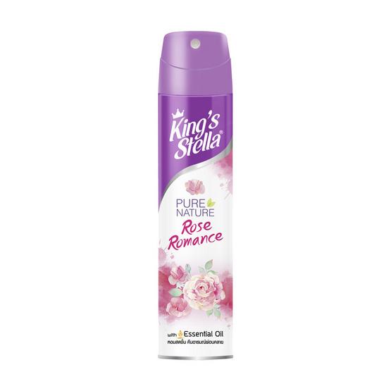 คิงส์สเตลล่า สเปรย์ปรับอากาศ เพียวเนเจอร์ กลิ่น Rose Romance 300 มล.