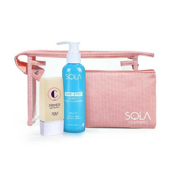Sola ชุดเซ็ท Double C (Cleansing + C Primer + Bag)