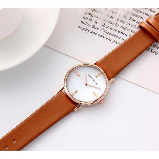 HANNAH MARTIN นาฬิกาข้อมือ รุ่น HM3801L-BR
