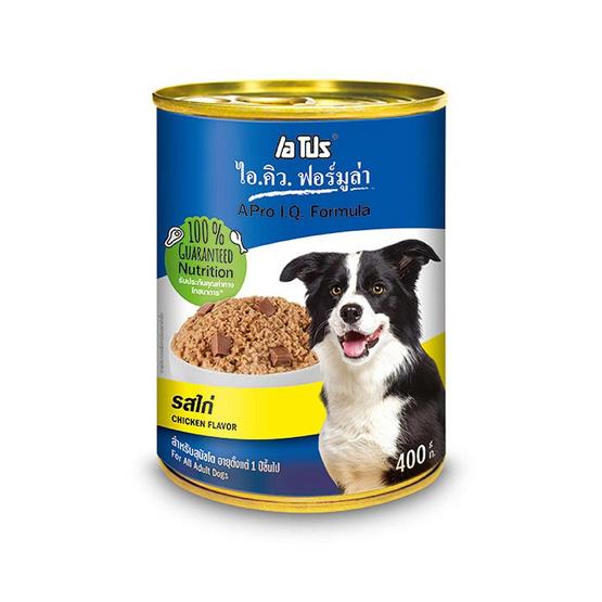 เอโปรไอคิวฟอร์มูล่า อาหารสุนัขเปียก กระป๋อง รสไก่ ขนาด 400 ก. (1 แพ็ก 4 กระป๋อง)