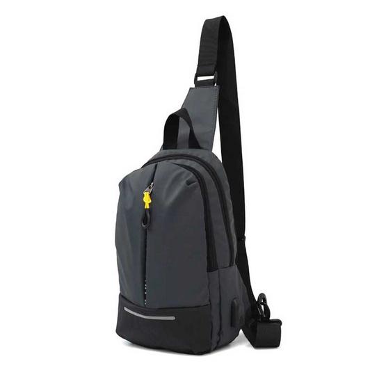 HQ LUGGAGE กระเป๋าคาดอก กระเป๋าสะพายพาดลำตัว รุ่น 1036-2 (สีเทา)