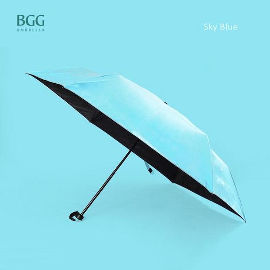 BGG ร่ม ร่มพับ 3ตอน เคลือบuvสีดำ สีฟ้า