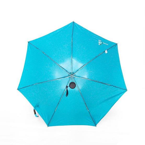 BGG ร่มพับกันuv100% ดอกกุหลาบ สีฟ้า