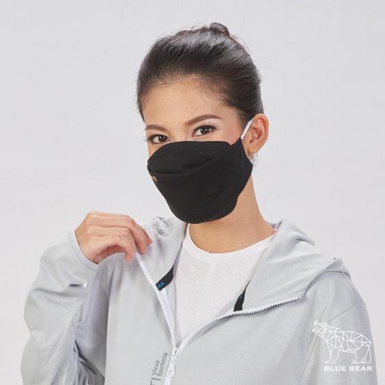 หน้ากากผ้า รุ่นเซฟการ์ด (แอนตี้ไวรัส&แอนตี้แบคทีเรีย) สไตล์เกาหลี (ผู้ใหญ่) - สีดำ