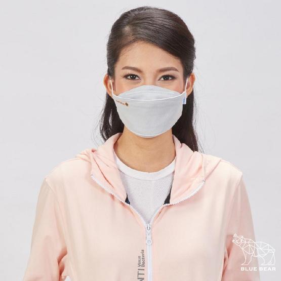 หน้ากากผ้า รุ่นเซฟการ์ด (แอนตี้ไวรัส&แอนตี้แบคทีเรีย) สไตล์เกาหลี (ผู้ใหญ่) - สีเทา