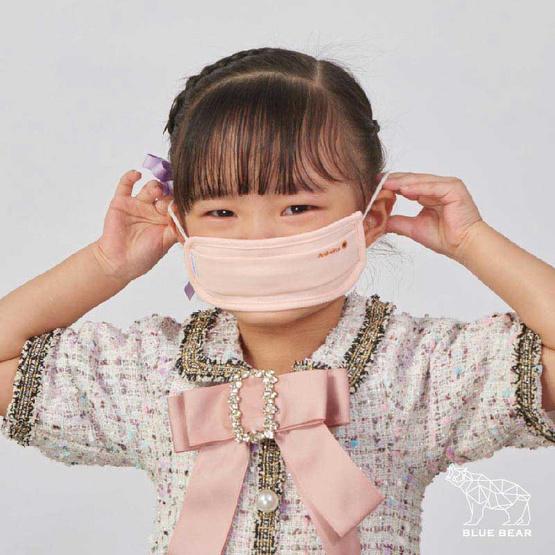 หน้ากากผ้า รุ่นเซฟการ์ด (แอนตี้ไวรัส&แอนตี้แบคทีเรีย) สไตล์ยุโรป (เด็ก 3-5 ปี)- สีโอลโรส