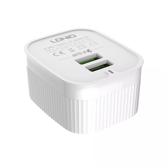 LDNIO A201 Travel Adapter 2 Port with Cable (t)