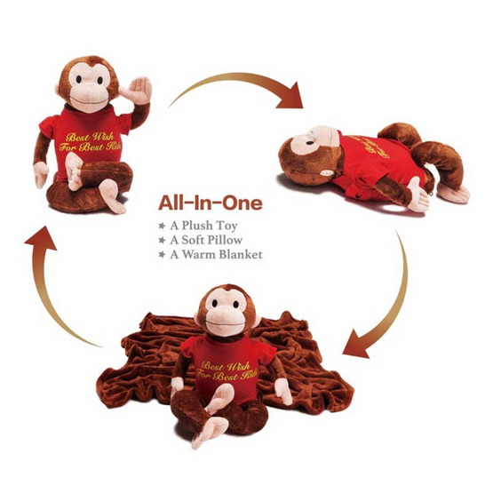 ตุ๊กตาผ้าห่ม Mashaka the Monkey