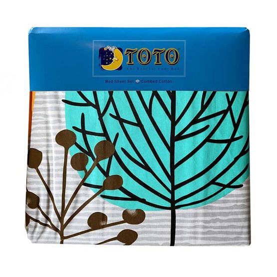 TOTO ชุดผ้าปูที่นอน ขนาด 6 ฟุต ลายต้นไม้หลากสี TT 563