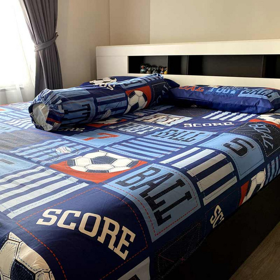 TOTO ชุดผ้าปูที่นอน ขนาด 6 ฟุต ลายบาส บอล TT 482