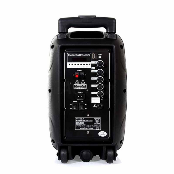 MUSIC D.J. ลำโพงบลูทูธ มีล้อลาก M-M999 Bluetooth / USB / TF / MIC / FM พร้อมไมค์ลอย
