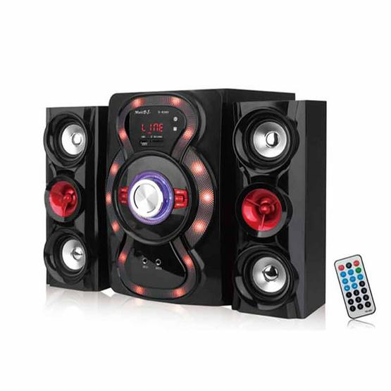 MUSIC D.J. ลำโพงบลูทูธ D6380 Bluetooth / USB / AUX / FM พร้อมรีโมทคอนโทรล