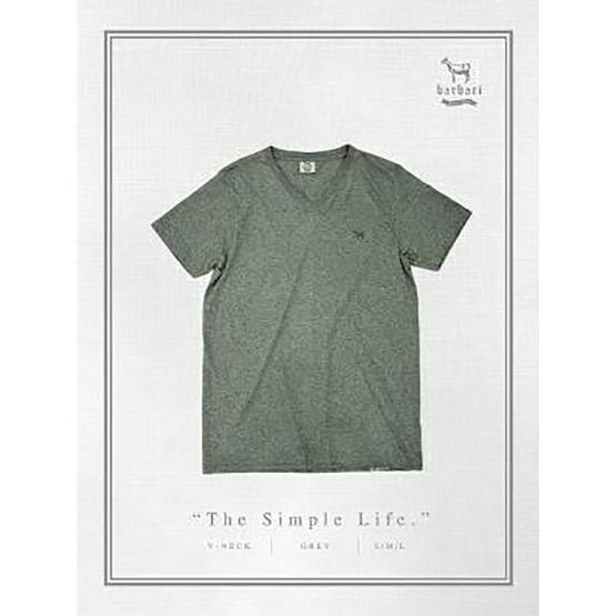 Barbari เสื้อยืดคอวี Premium Cotton 100% รุ่น Basic ใส่ได้ทั้งผู้หญิง/ผู้ชาย BV1 ท๊อปดราย