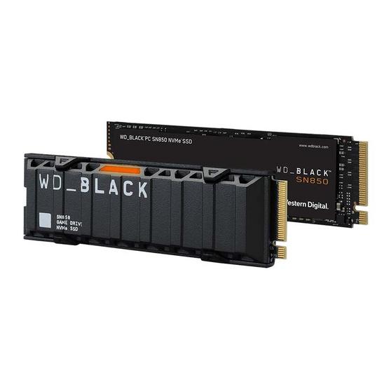WD โซลิดสเตทไดรฟ์ Black SN850 M.2 NVMe Gen4 (WDS200T1X0E) 2TB