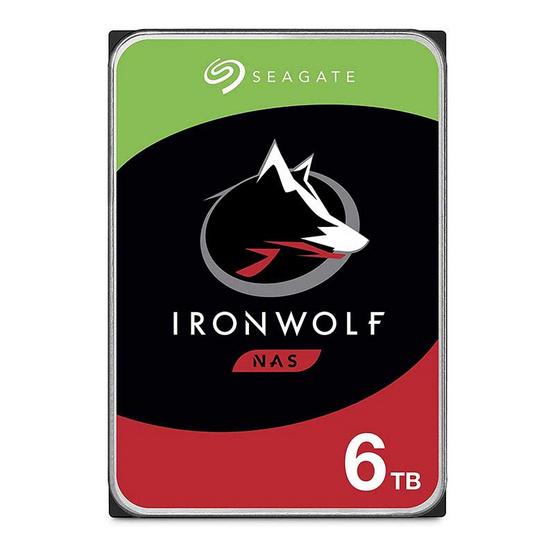 Seagate ฮาร์ดดิสก์ IronWolf 3.5 256MB 5400 RPM SATA 6GB/s (ST6000VN001) 6TB