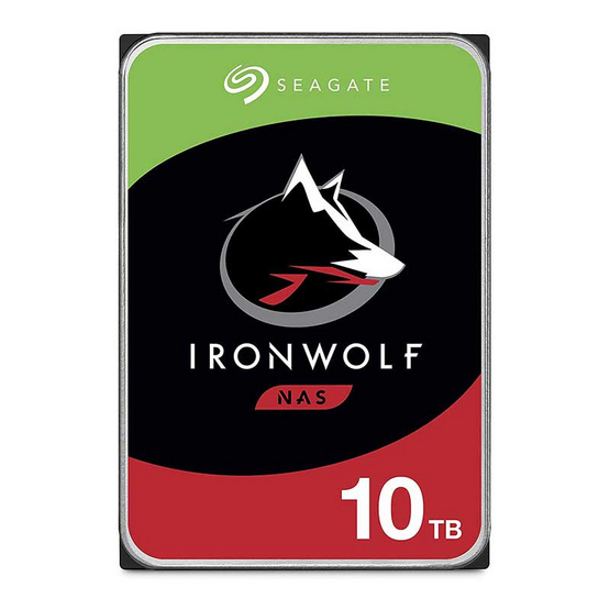 Seagate ฮาร์ดดิสก์ IronWolf 3.5 256MB 7200 RPM SATA 6GB/s (ST10000VN0008) 10TB