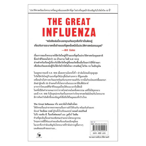 มหาภัยไวรัสล้างโลก THE GREAT INFLUENZA