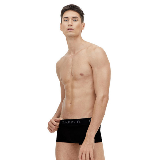 Dapper Men's Pima Cotton Black Trunks