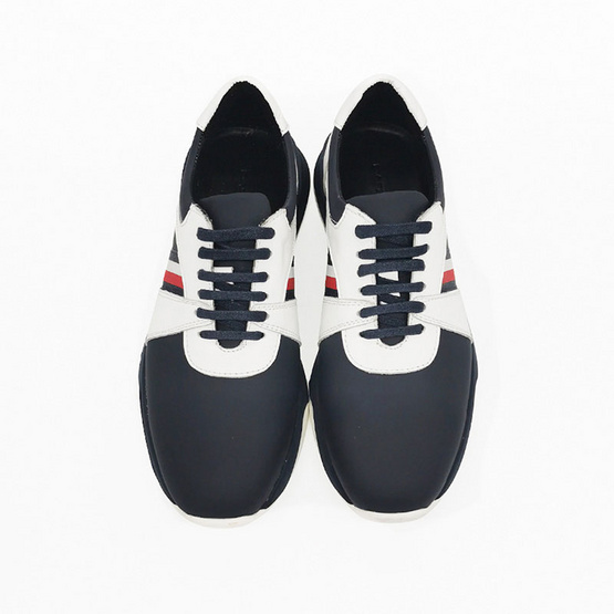 Dapper รองเท้าผ้าใบ Navy Blue Microfiber Chunky Sole Sneaker