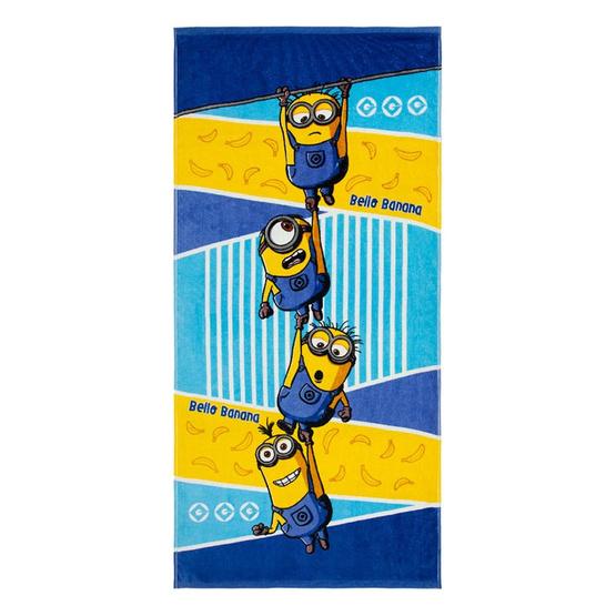 Frolina ผ้าขนหนูเช็ดตัวพิมพ์ลายลิขสิทธิ์แท้ Minions ลาย Bello Banana ขนาด 24x48 นิ้ว