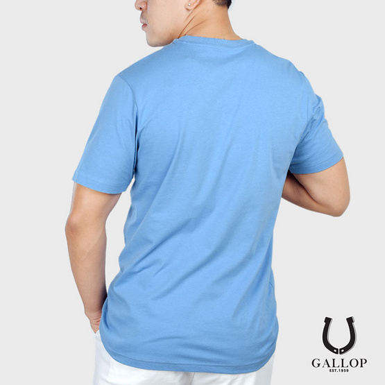GALLOP BASIC -T-SHIRT Round-necked เสื้อยืดคอกลม รุ่น GN9004 สีฟ้า
