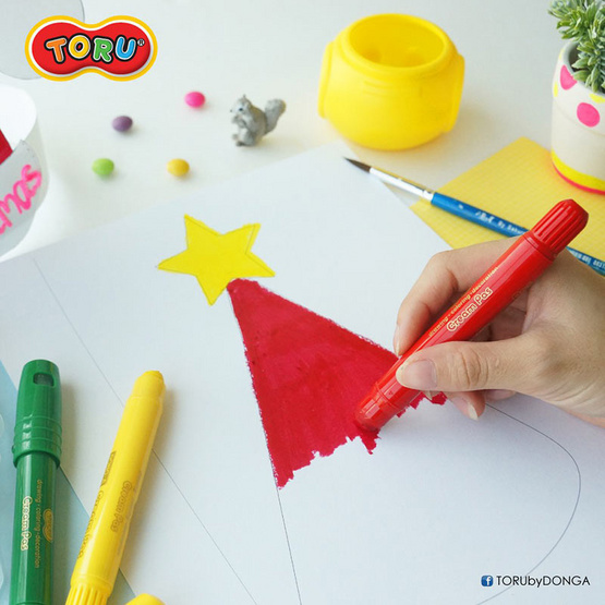 DONG-A TORU Cream Pas ปากกาครีมพาส 24 สี