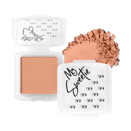 Mongrang บลัชออน My Sweethi Blush Matte #02 Peach Pearl