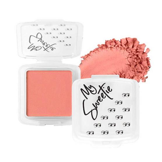 Mongrang บลัชออน My Sweethi Blush Matte #03 Classy Coral