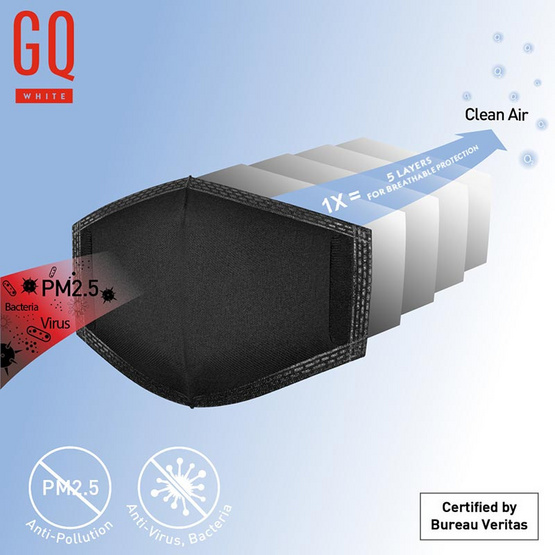 GQWHITE MASK Filter PM