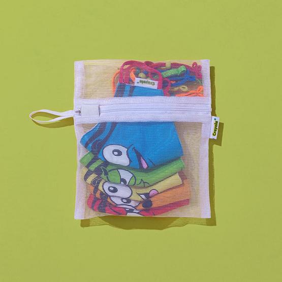 SchoolMaskPack Crayola เซ็ตหน้ากากผ้า ลาย Tip Faces (ขนาดมาตรฐาน) 1แพ็ก5 ชิ้น