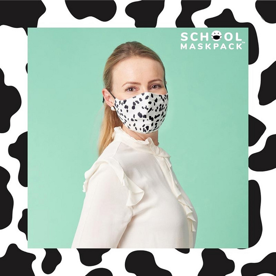 SchoolMaskPack เซ็ตหน้ากากผ้า ลาย Animal Prints (ขนาดมาตรฐาน) 1แพ็ก5 ชิ้น