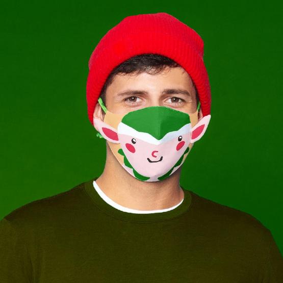 SchoolMaskPack เซ็ตหน้ากากผ้า ลายการ์ตูนคริสต์มาส 3 มิติ (ขนาดเล็ก) 1แพ็ก5 ชิ้น