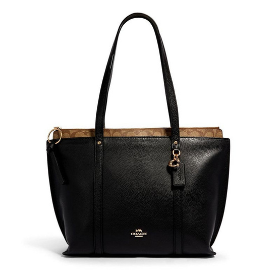 COACH 1575 MAY TOTE WITH SIGNATURE CANVAS DETAIL (IMR19)
