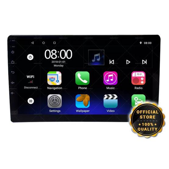 Worldtech รุ่น WT-DDN10-1AND-2GB เครื่องเสียงติดรถยนต์ระบบจอ Android 10 นิ้ว 2GB 16 ROM Mirror Link Android (วิทยุ mp3 usb บลูทูธ)