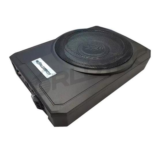 Worldtech รุ่น WT-SBX1001 ตู้ลำโพงซับเบส Subbox Bassbox ซับบอกซ์ เบสบ็อกซ์, ซับใต้เบาะ 10 นิ้ว มีแอมป์ขยายเสียง/เพาเวอร์แอมป์ในตัว