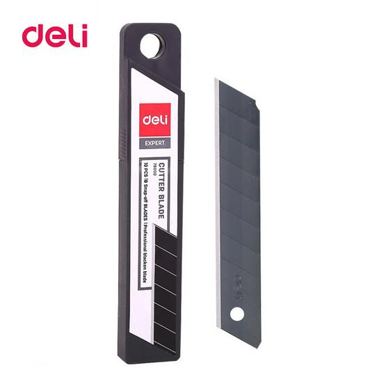 Deli 78000 ใบมีดคัดเตอร์คาร์บอน (บรรจุ10ใบ)