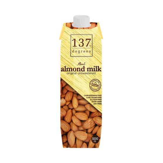 137 ดีกรี นมอัลมอนด์  สูตรไม่หวาน 1 ลิตร