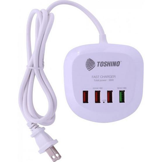Toshino ปลั๊ก USB 4 ช่อง สาย 1.2 เมตร รุ่น TS-4USB