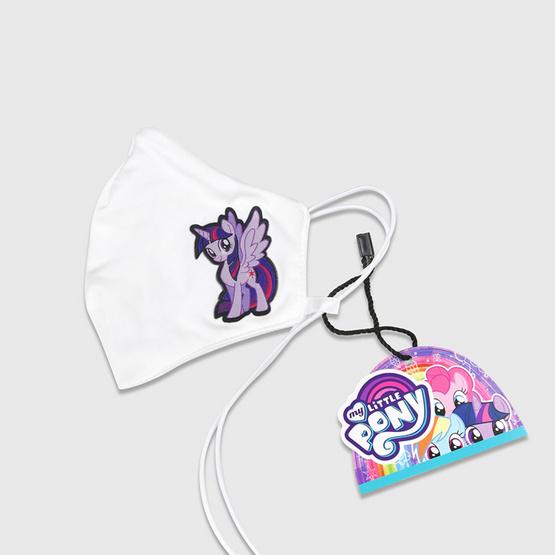DOSH ผ้าปิดจมูก คล้องคอ กันละอองน้ำ สำหรับเด็ก 3-7ปี Twilight Sparkle-My Little Pony