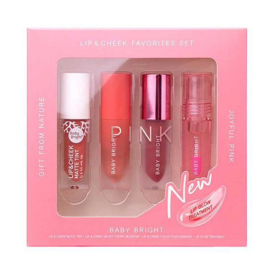 Baby Bright ชุดเซ็ท All Lip & Cheek Favorite Set (Set 1 Joyful Pink)