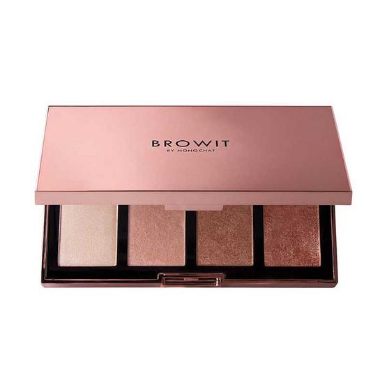 Browit ไฮไลท์พาเลท Show Glow Highlighter Palette 4 กรัม x 4 สี