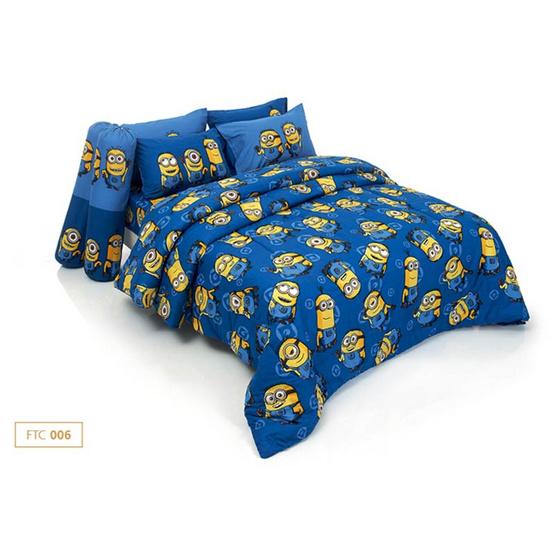 ผ้าปูที่นอน Fountain ขนาด 3.5 ฟุต ลายมินเนี่ยน รุ่น FTC006
