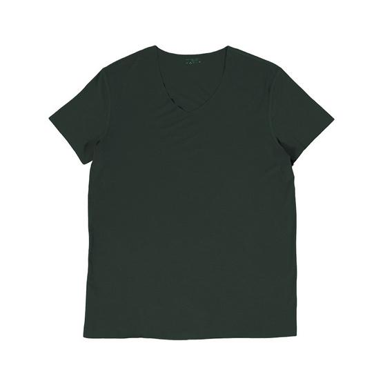 Tepp Sinply เสื้อยืดแขนสั้น คอวี เขียว