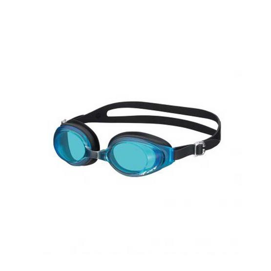 VIEW แว่นตาว่ายน้ำ ซิลิโคน V610 - เลนส์ฟ้าน้ำทะเล สายดำ