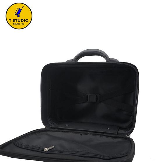 KL POLO กระเป๋าสะพายลายตารางดำ