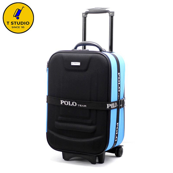 KL POLO กระเป๋าเดินทาง2ล้อลาก ขนาด 20 นิ้ว PoLo สีฟ้า