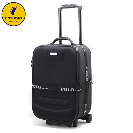 KL POLO กระเป๋าเดินทาง2ล้อลาก ขนาด 24 นิ้ว PoLo สีดำ
