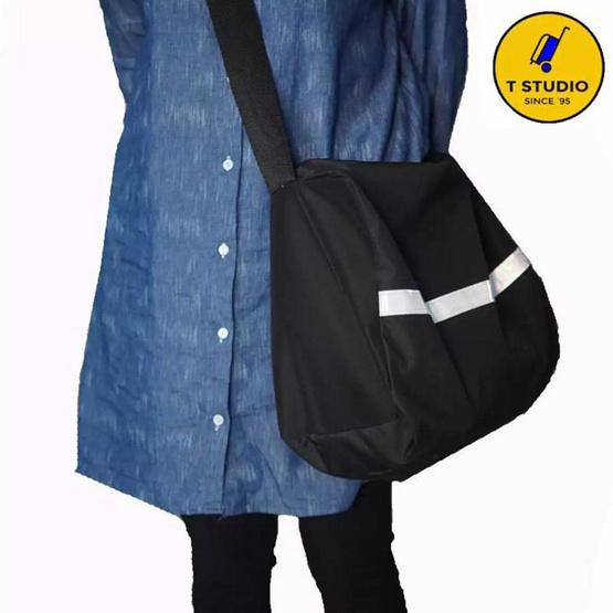 KL POLO กระเป๋าสะพายสะท้อนแสง7768 สีดำ