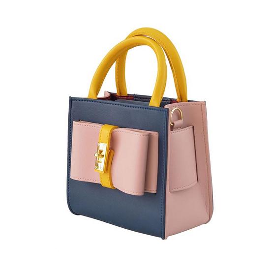 HQ LUGGAGE กระเป๋าสตรี กระเป๋าถือ กระเป๋าสะพายพาดลำตัว รุ่น S005 (กรม)